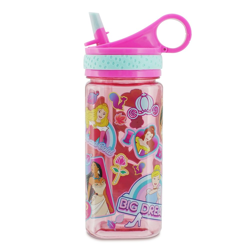 Disney Princess Water Bottle with Built-In Straw