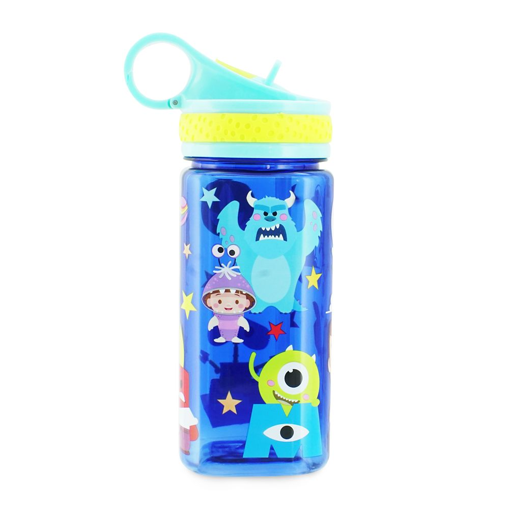 World of Pixar Water Bottle with Built-In Straw