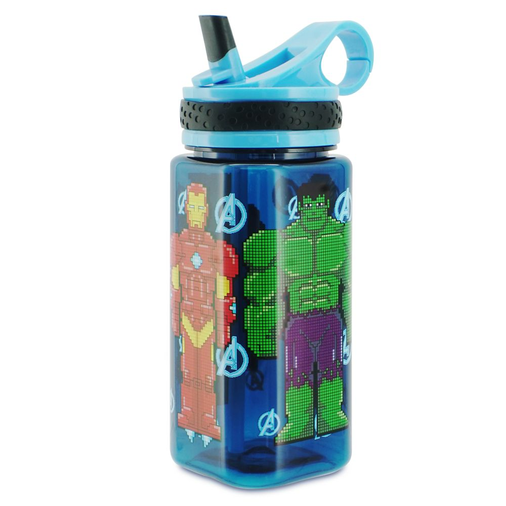 Marvel's The Avengers Water Bottle with Built-In Straw