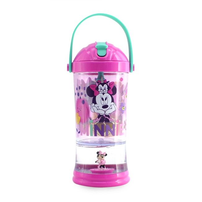 Minnie Mouse and Figaro Snowglobe Tumbler with Straw
