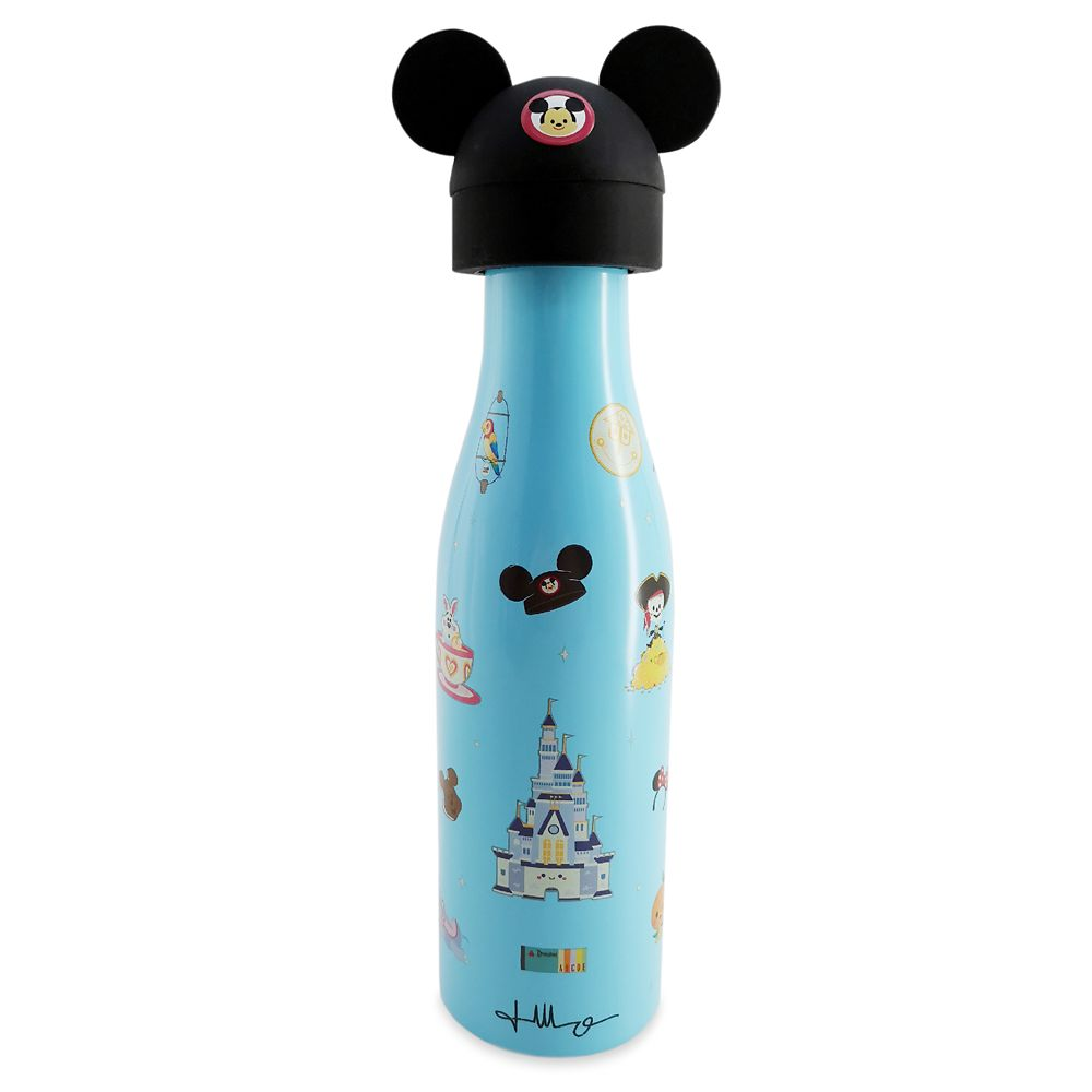 Disney Parks Stainless Steel Water Bottle and Toppers Set by Jerrod Maruyama