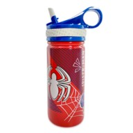 Spider-Man Stainless Steel Water Bottle with Built-In Straw