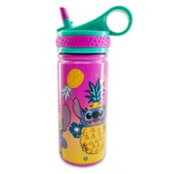 Stitch Stainless Steel Water Bottle with Built-In Straw – Lilo & Stitch