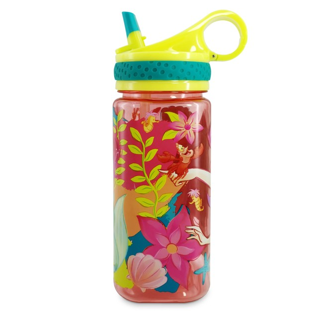 Ariel Water Bottle with Built-In Straw – The Little Mermaid