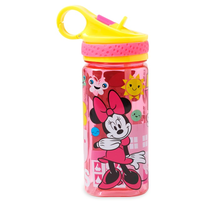 Minnie Mouse Water Bottle with Built-In Straw