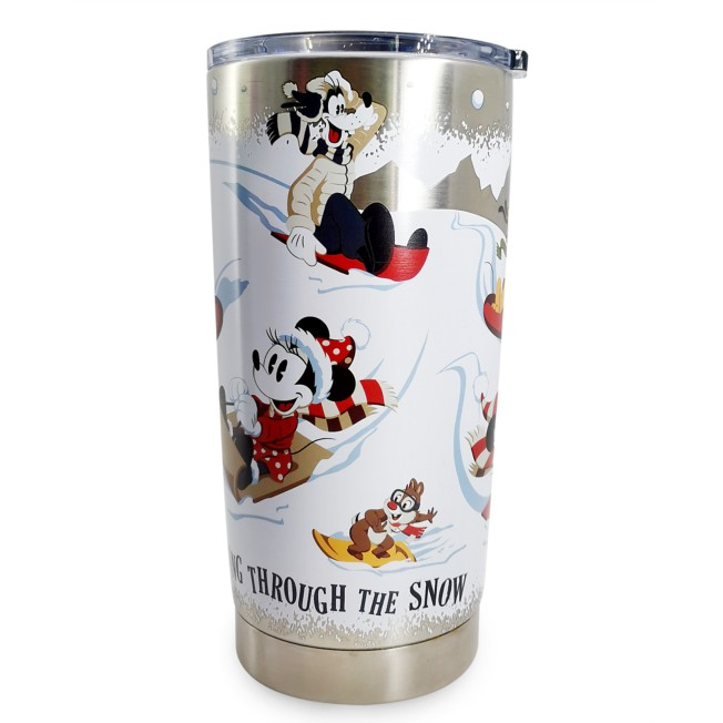 Mickey Mouse and Friends Holiday Stainless Steel Travel Tumbler