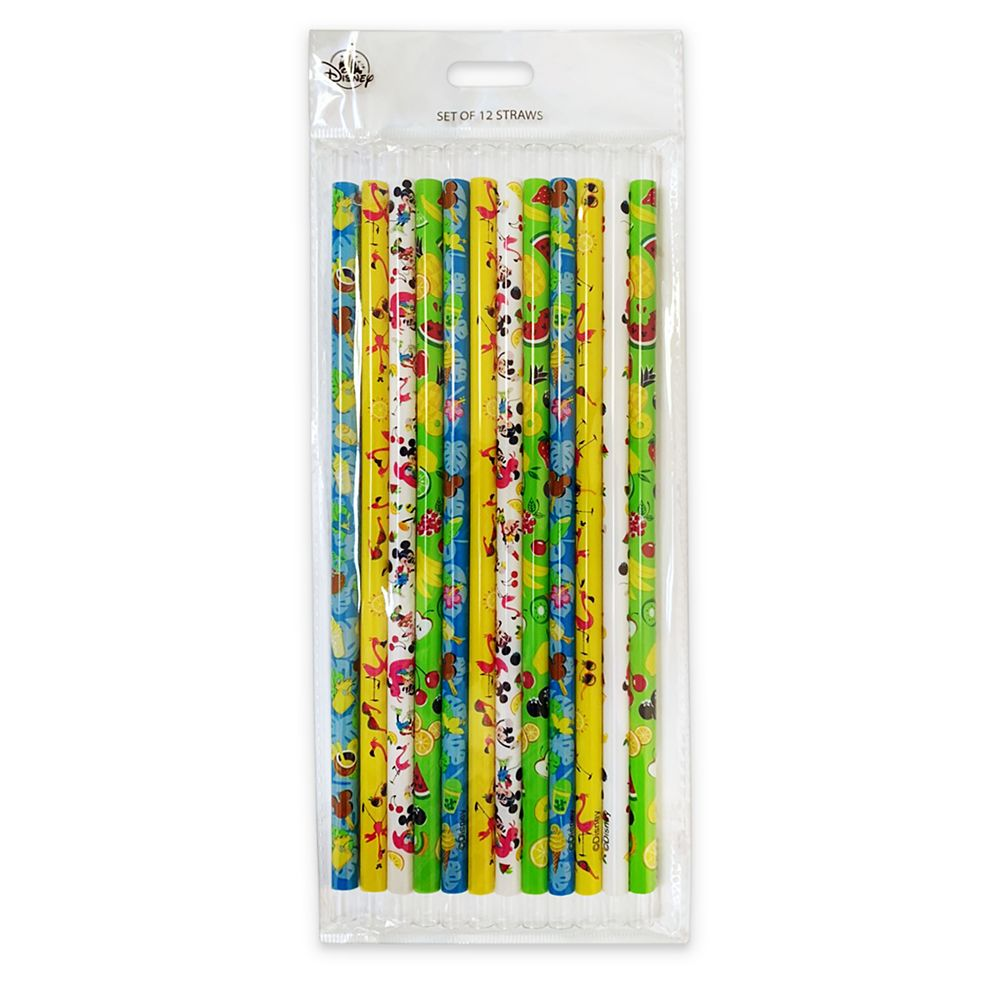 Mickey and Minnie Mouse Reusable Straw Set