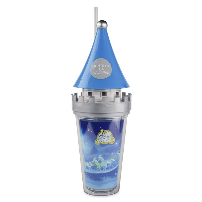 Cinderella Castle Light Up Tumbler with Straw – Disney Castle Collection