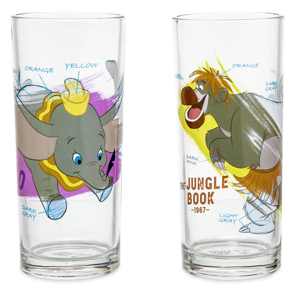 Disney Ink & Paint Drinking Glass Set 1 – '40s - '60s