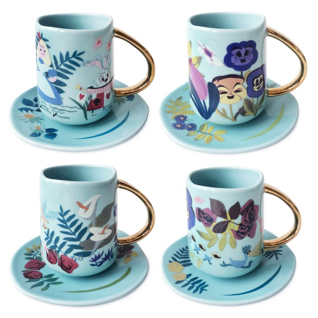 Alice in Wonderland by Mary Blair Teacup and Saucer Set