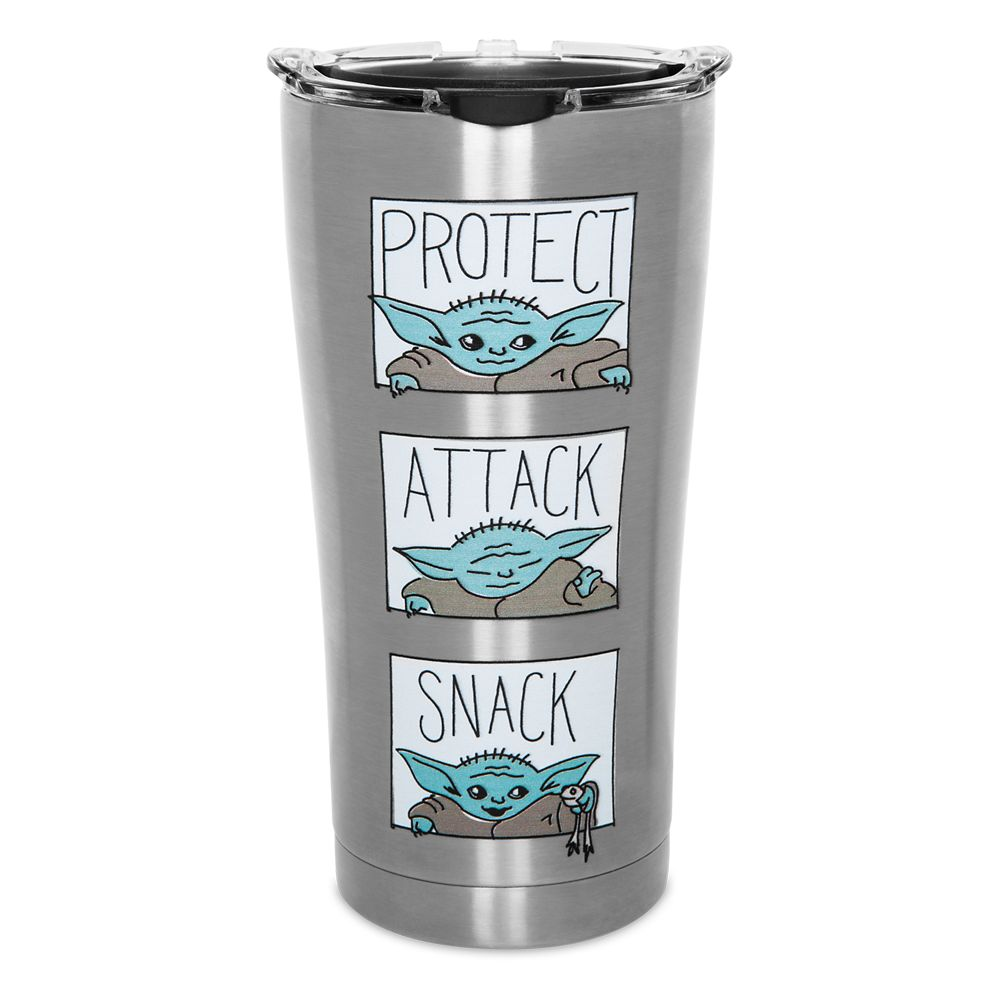 The Child Stainless Steel Travel Tumbler by Tervis – Star Wars: The Mandalorian – Protect Attack Snack