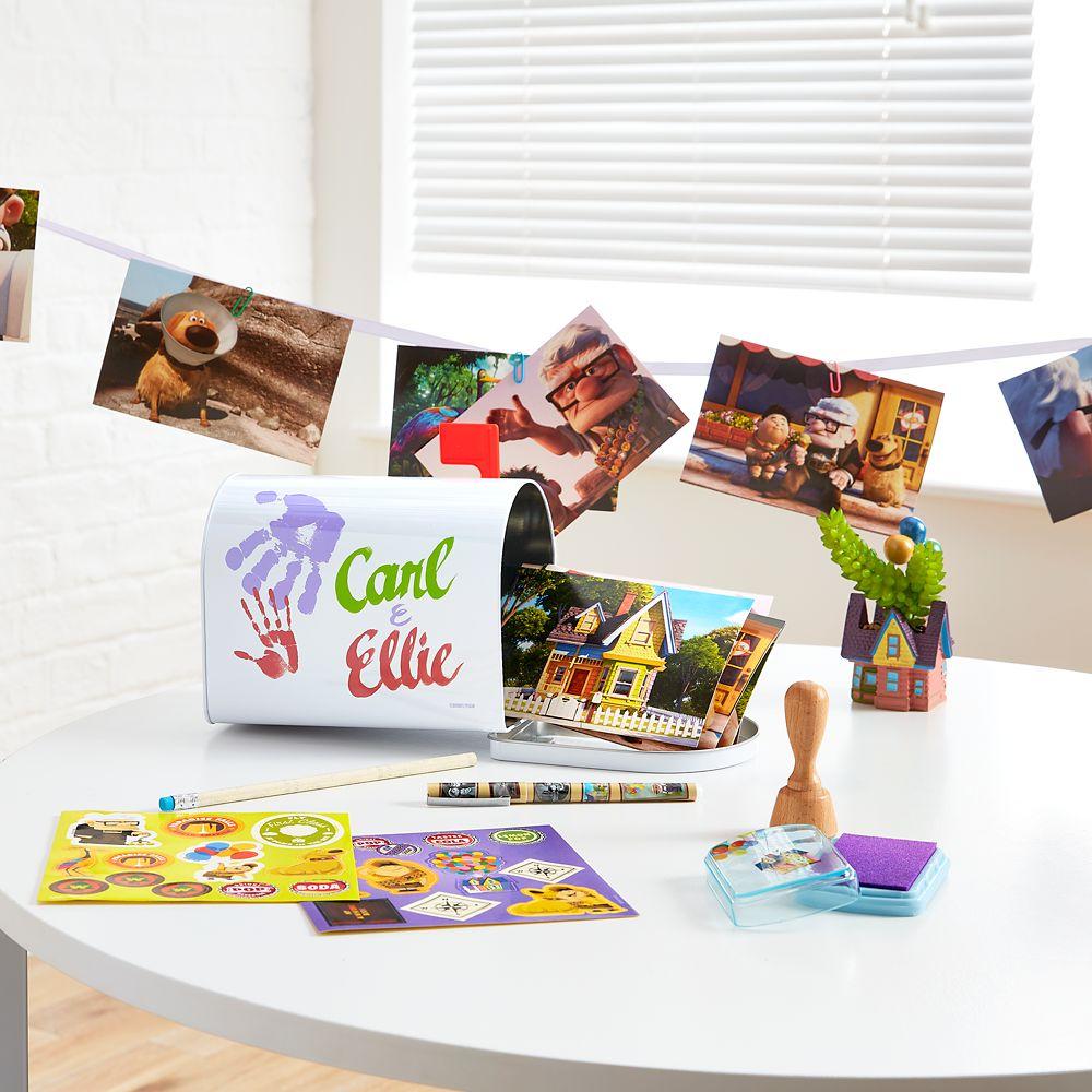 Carl & Ellie Desk Mailbox and Stationery Set – Up