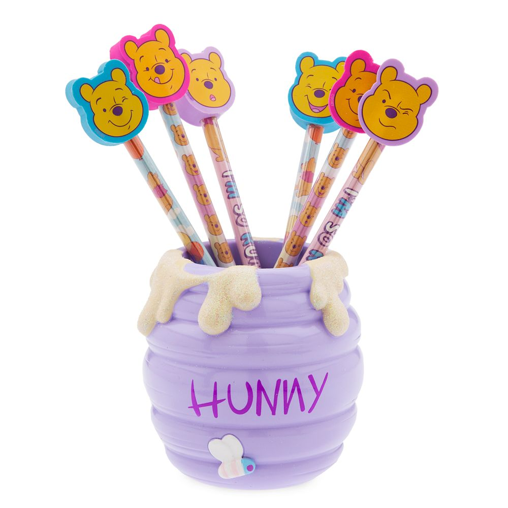 Winnie the Pooh Pencil and Pencil Holder Set – Oh My Disney