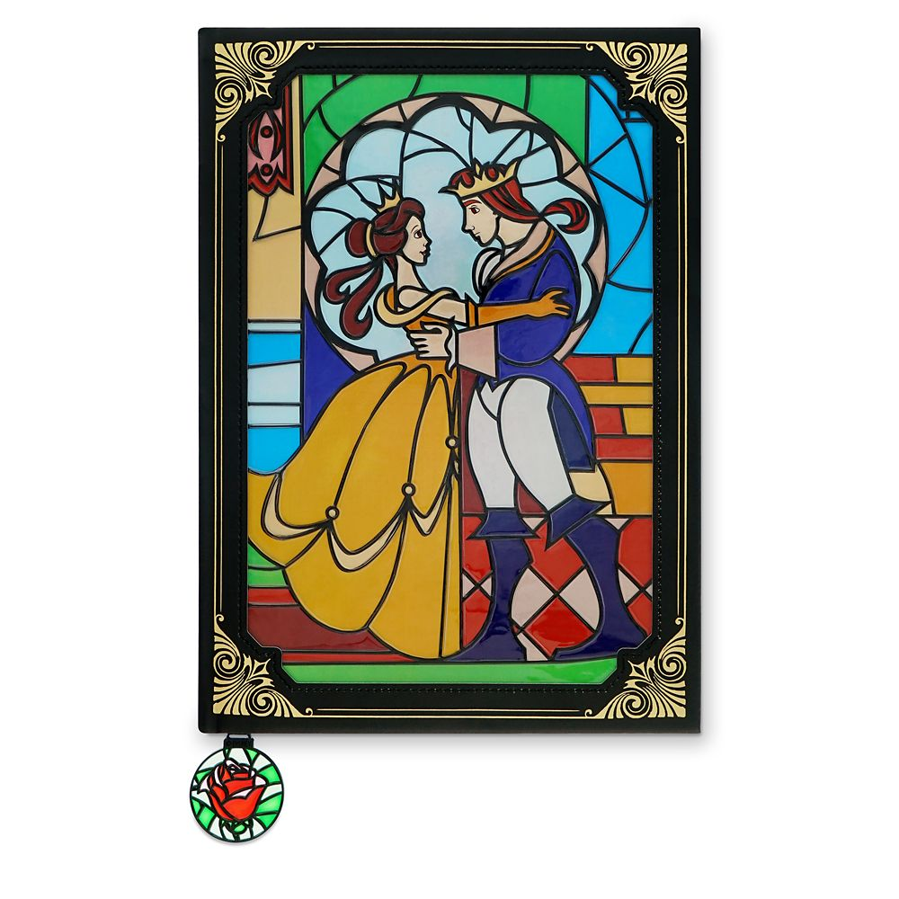 Beauty And The Beast Stained Glass Window Replica Journal Shopdisney
