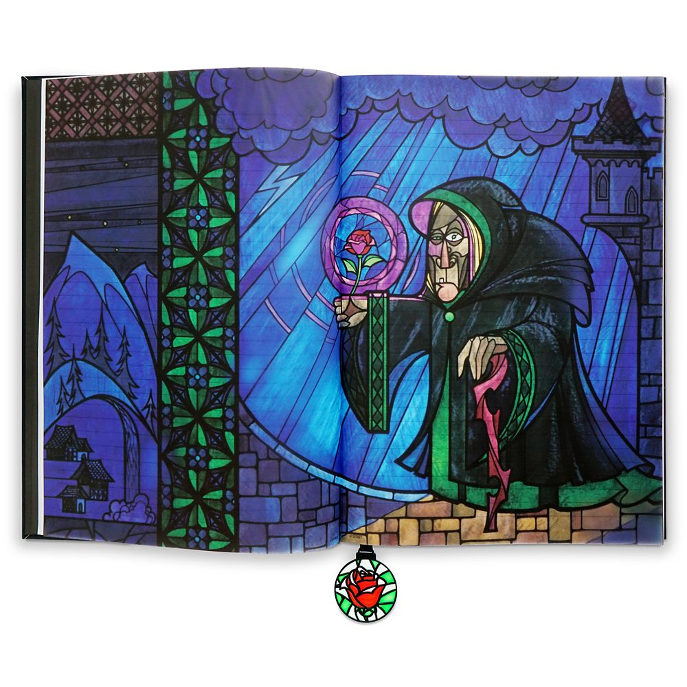 Beauty and the Beast Stained Glass Window Replica Journal