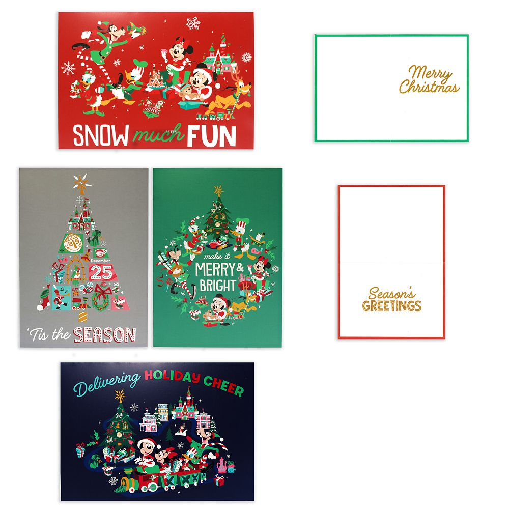 Mickey Mouse and Friends Holiday Greeting Cards