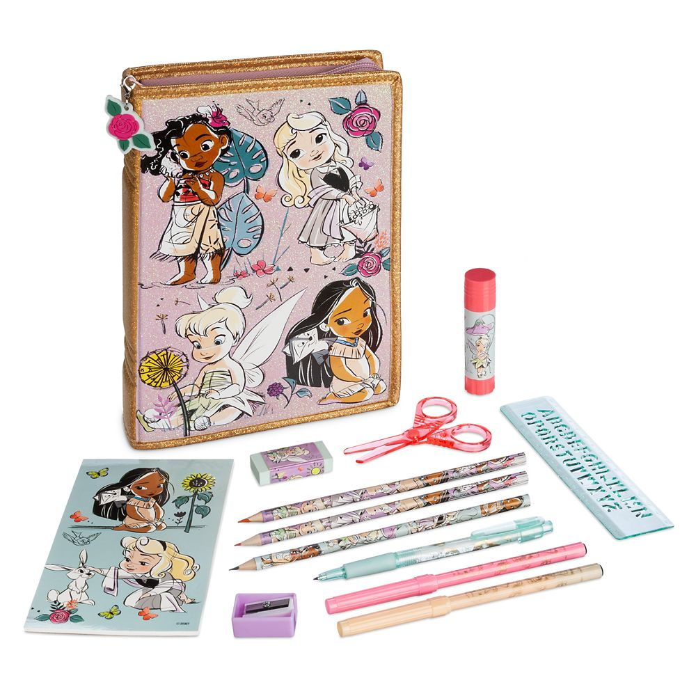 Disney Animators' Collection Zip-Up Stationery Kit