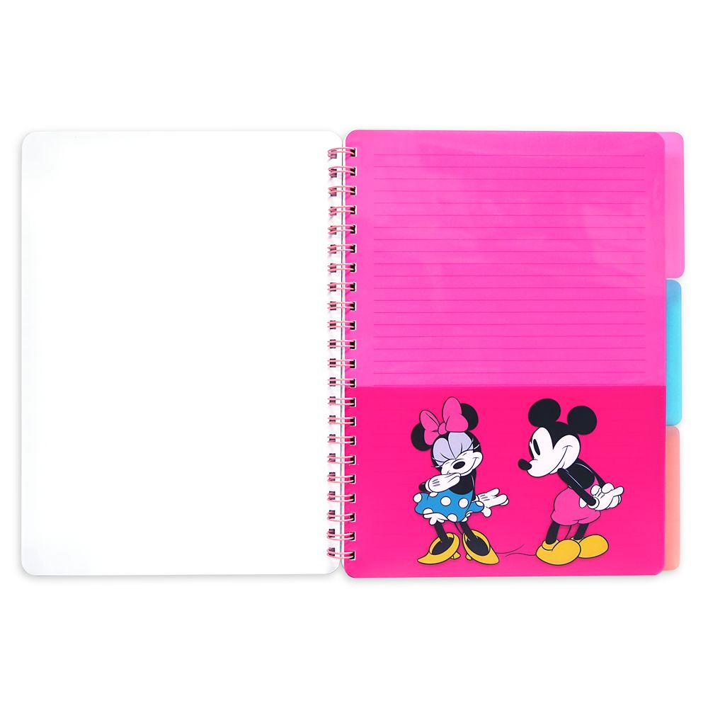 Mickey and Minnie Mouse Donuts Notebook and Folder Set