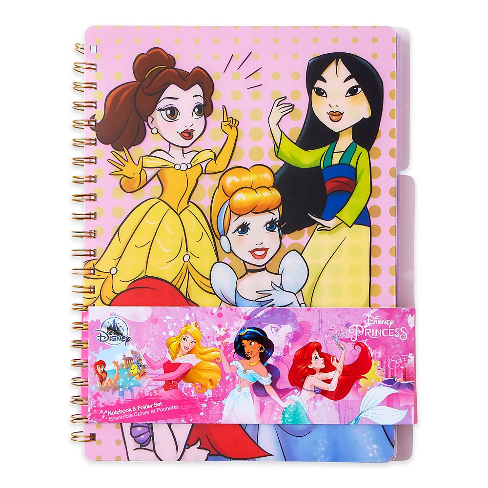 Disney Princess Notebook and Folder Set