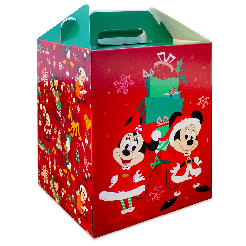 Mickey and Minnie Mouse Holiday Gift Box – Small ''Barn'' Size