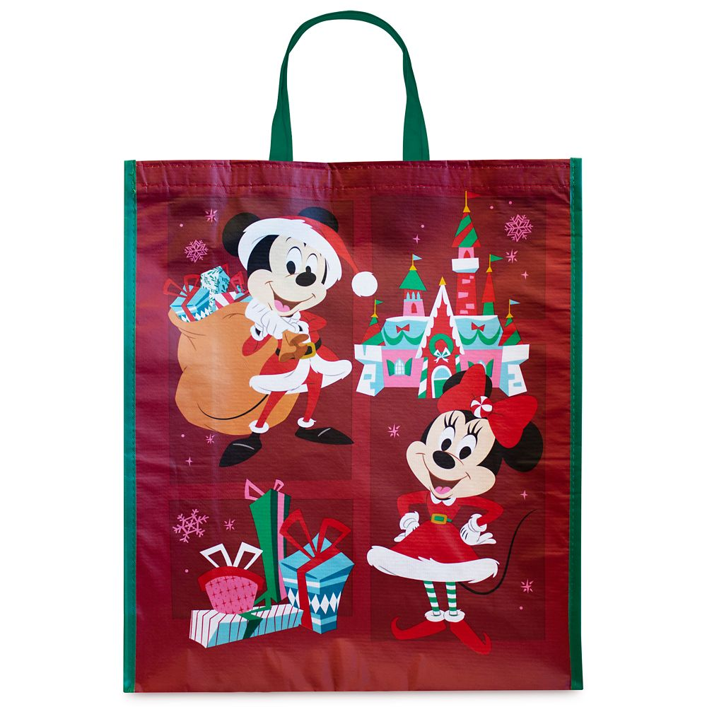 Mickey and Minnie Mouse Holiday Reusable Tote – Large