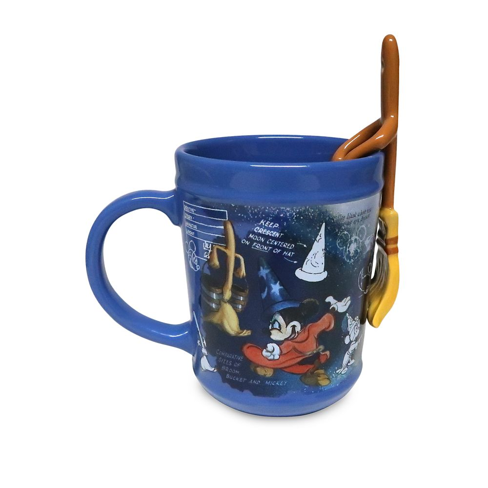Sorcerer Mickey Mouse Mug with Spoon – Fantasia 80th Anniversary