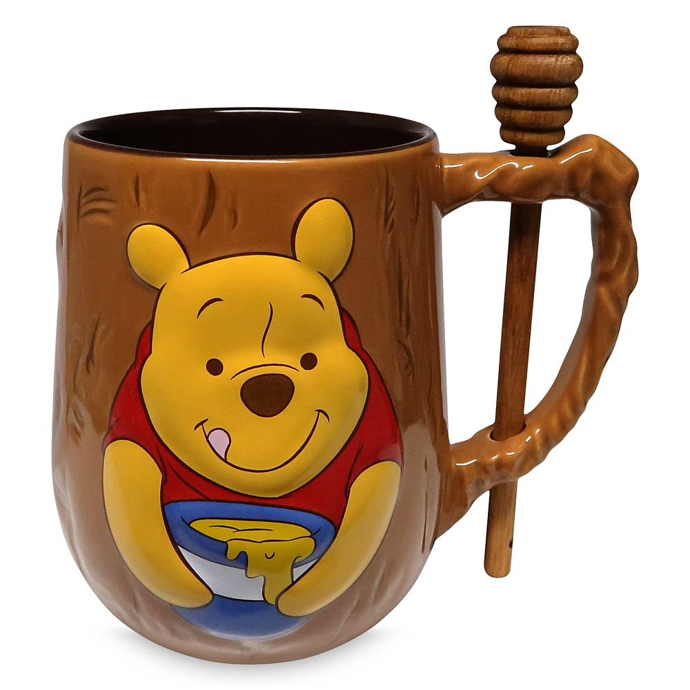 Winnie the Pooh Mug and Honey Dipper Set