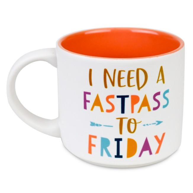 ''I Need a FastPass to Friday'' Mug