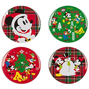 Mickey Mouse and Friends Melamine Plate Set - Holiday