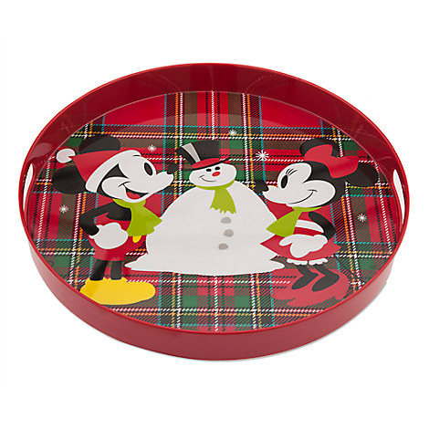 Mickey and Minnie Mouse Holiday Tray