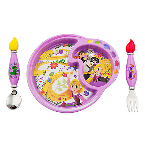 Rapunzel Plate and Flatware Set for Kids