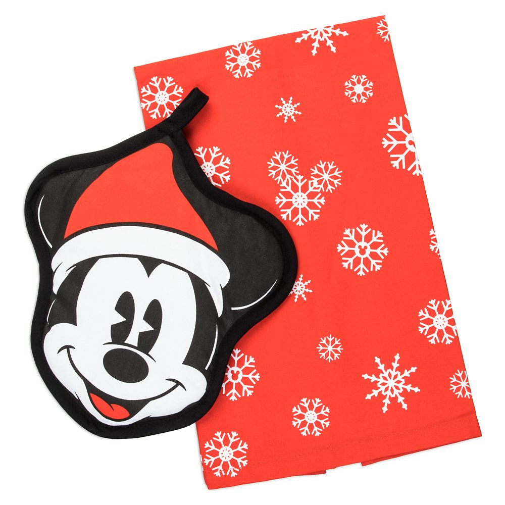 Mickey Mouse Holiday Pot Holder and Towel Set