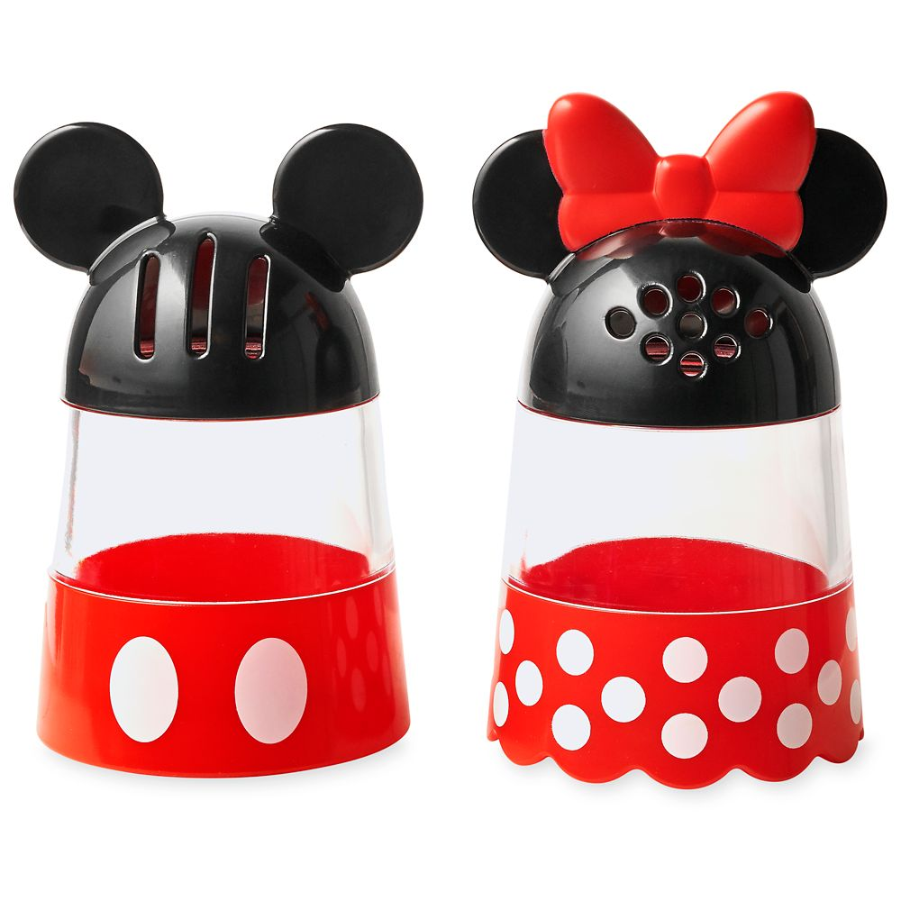 Mickey and Minnie Mouse Cheese and Pepper Shaker Set  Disney Eats