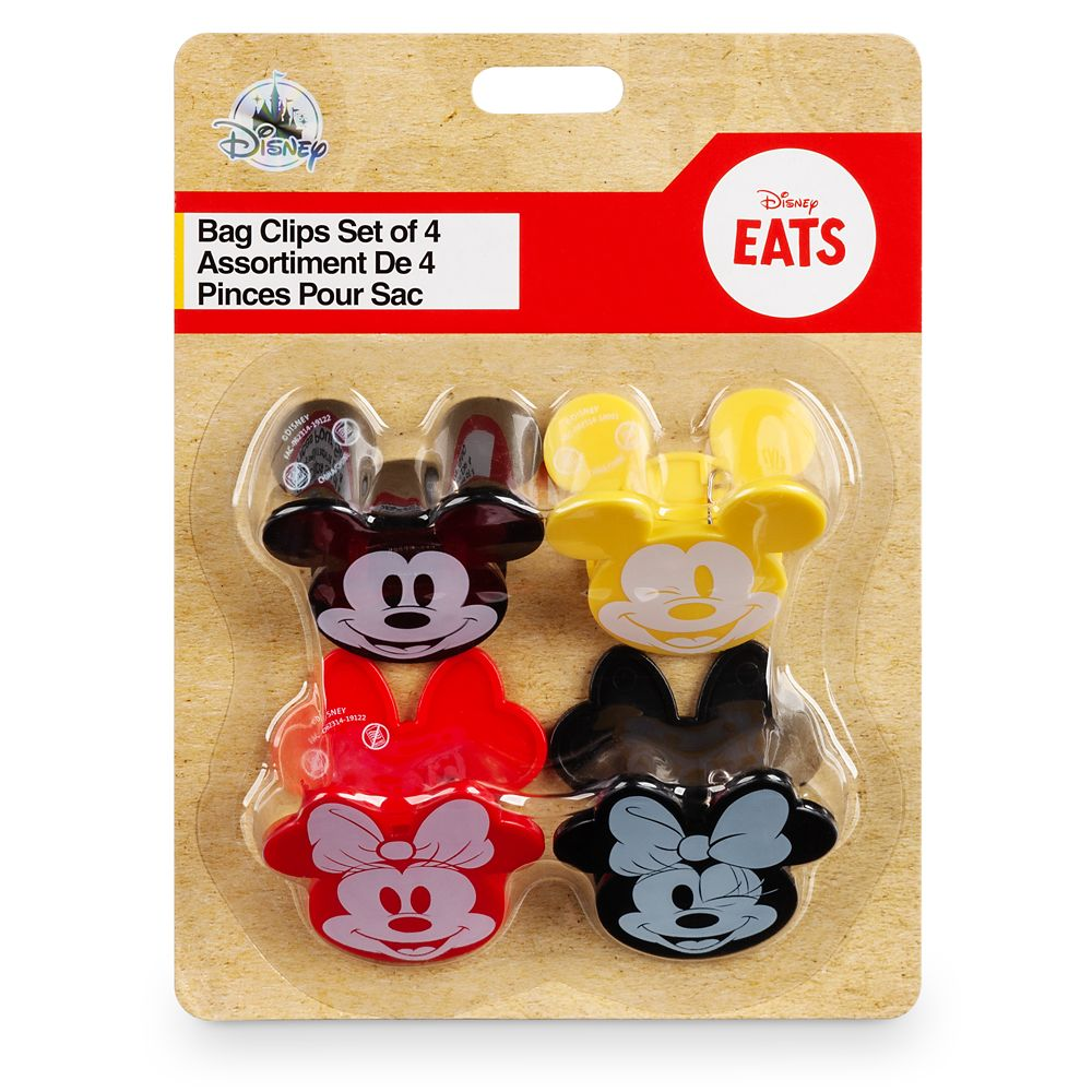 Mickey and Minnie Mouse Bag Clips Set – Disney Eats
