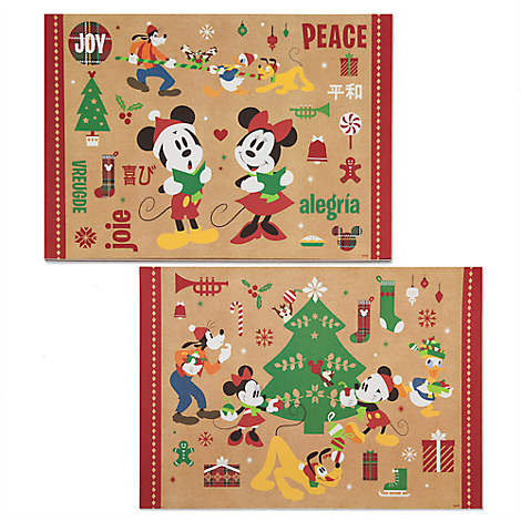 Mickey Mouse and Friends Paper Placemat Set - Holiday