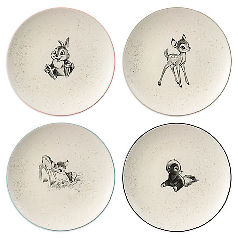 Bambi 4-Piece Plate Set