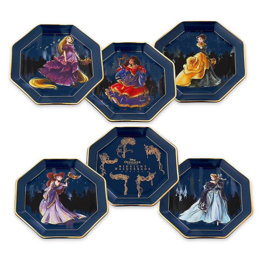 Disney Designer Collection Midnight Masquerade Series Plate Set  Limited Release
