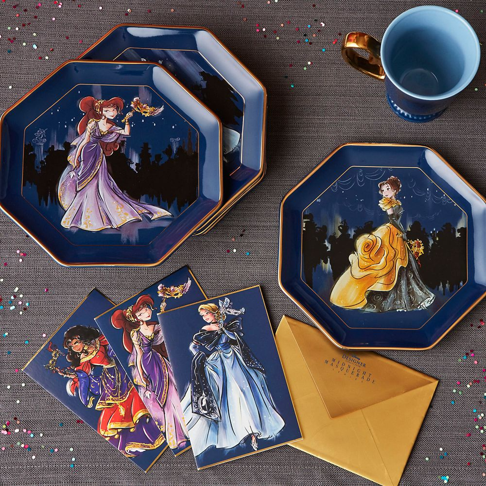Disney Designer Collection Midnight Masquerade Series Plate Set – Limited Release