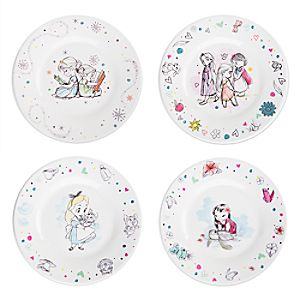 Disney Animators' Collection Melamine Plate Set
