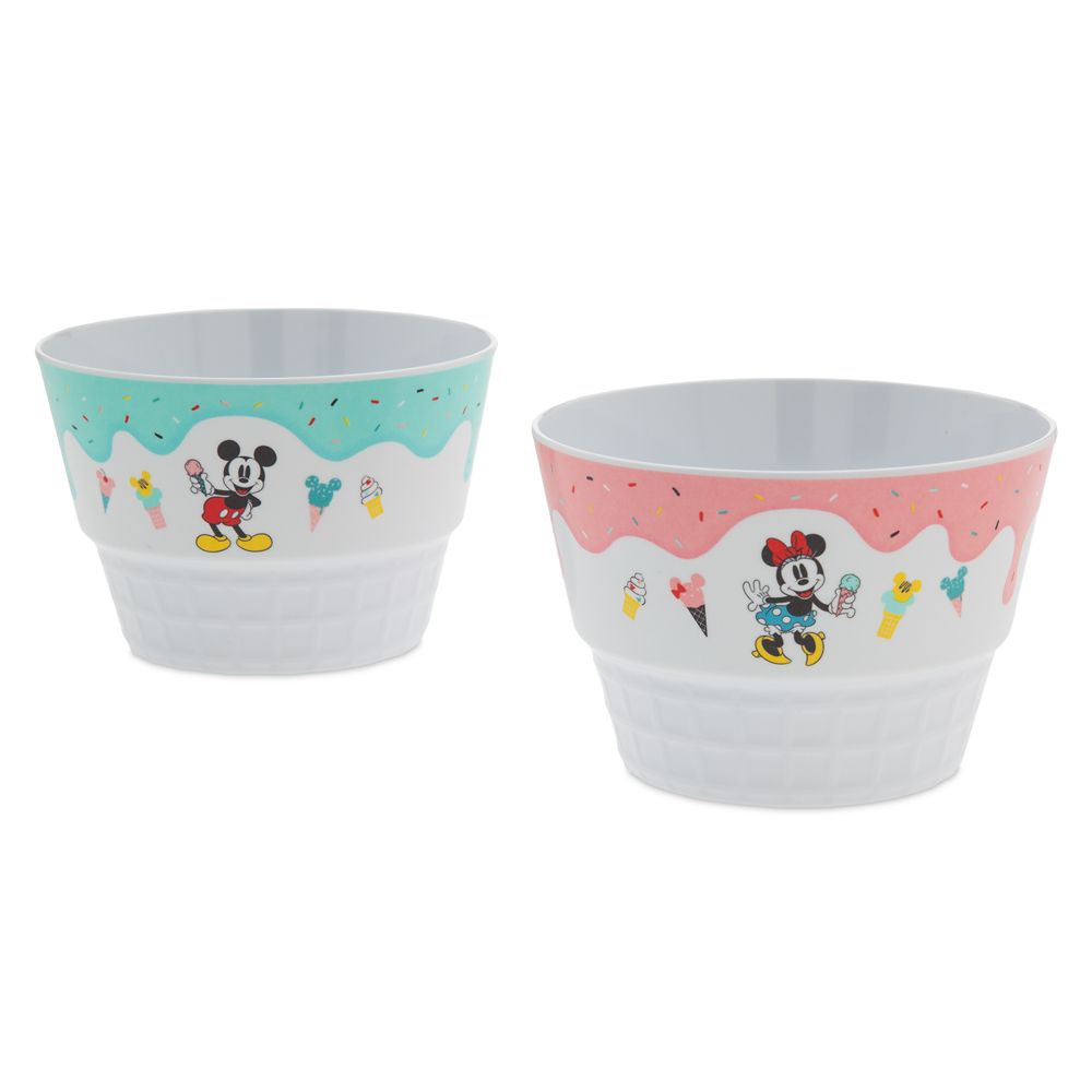 Mickey and Minnie Mouse Bowl Set – Disney Eats