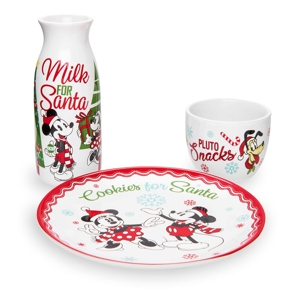 Mickey Mouse and Friends Holiday Milk and Cookies Set