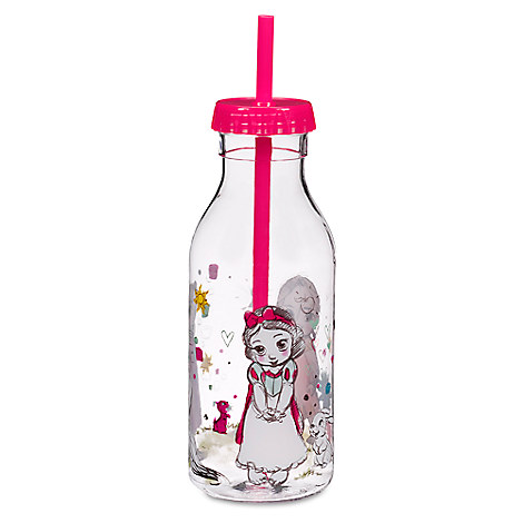 Disney Animators' Collection Drink Bottle with Straw - Disney Princess