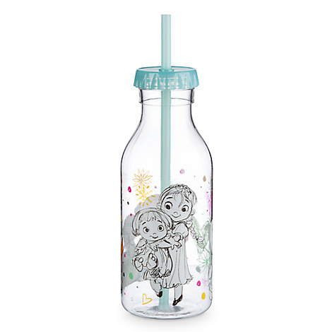 Disney Animators' Collection Drink Bottle with Straw - Frozen