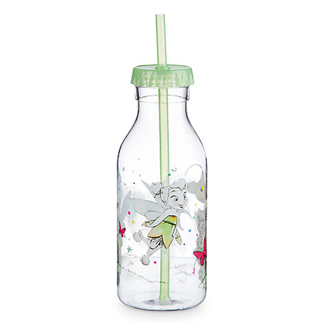 Disney Animators' Collection Drink Bottle with Straw - Tinker Bell