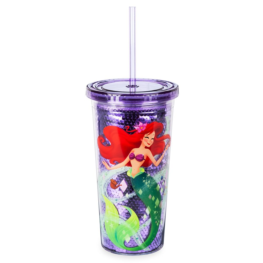 Ariel Tumbler with Straw – The Little Mermaid – Large