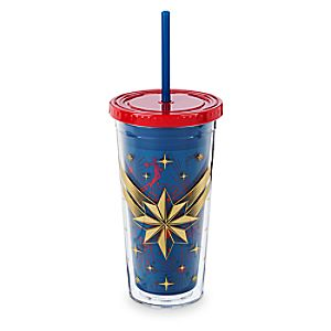 Captain Marvel Tumbler with Straw