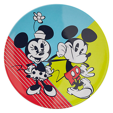 Mickey and Minnie Mouse Plate - Summer Fun