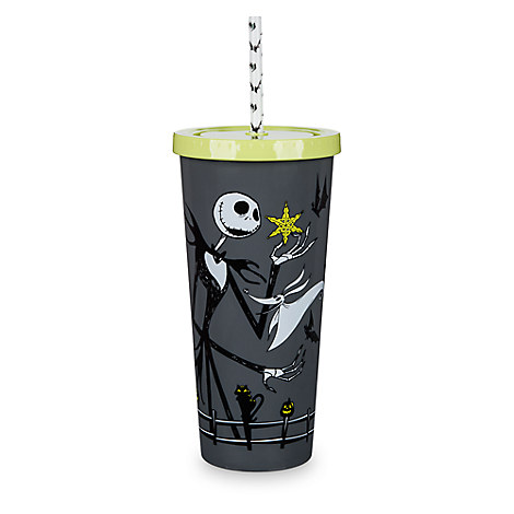 Nightmare Before Christmas Tumbler with Straw - 8''