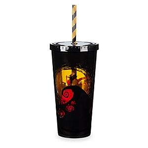 Nightmare Before Christmas Light-Up Tumbler with Straw