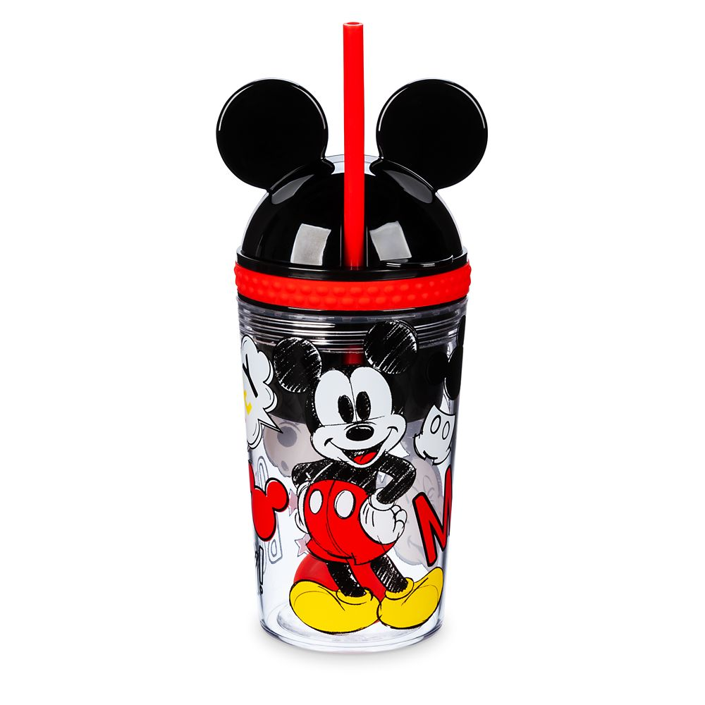 Mickey Mouse Snack & Drink Cup with Straw/Spoon